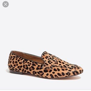 J Crew Calf Hair Penny Loafers